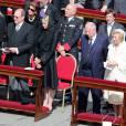 Le prince Albert II et la princesse Charlene de Monaco lors de la messe inaugurale du pape Francois sur la place Saint-Pierre de Rome le 19 mars 2013