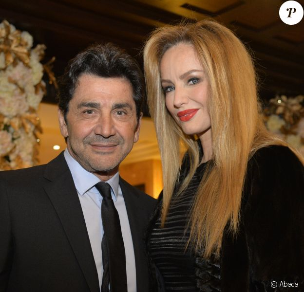 Adriana Karembeu et son mari Andre Ohanian - Dîner du Conseil de Coordination des Organisations Arméniennes de France, à l'hôtel du Collectionneur, à Paris, le 28 janvier 2016