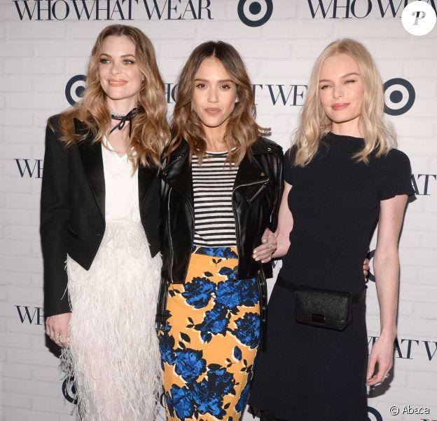 Jaime King, Jessica Alba et Kate Bosworth assistent à la soirée de lancement de la collection de Who What Wear pour Target à l'ArtBeam. New York, le 27 janvier 2016.