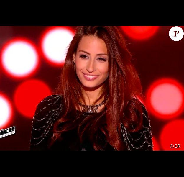 Hiba Tawaji dans The Voice 2015 sur TF1, le samedi 24 janvier 2015