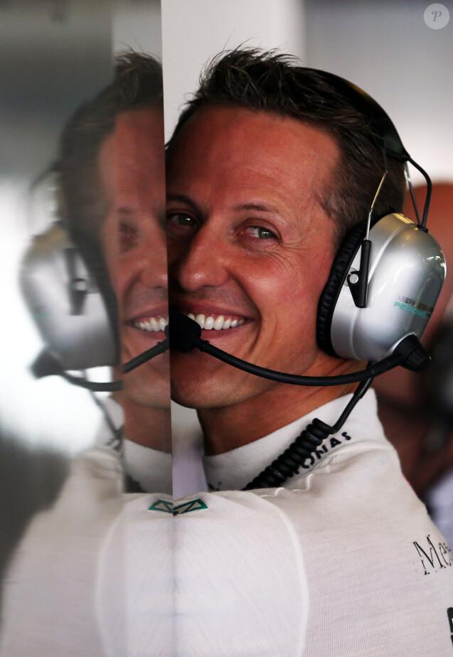 Michael Schumacher sur le circuit de Yas Marina à Abu Dhabi, le 2 novembre 2012