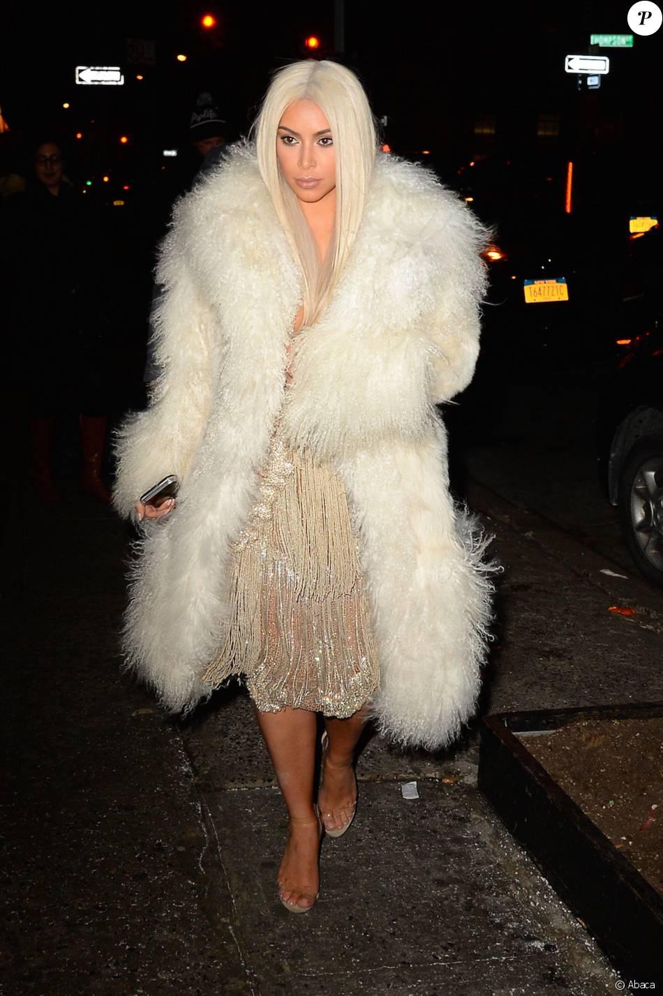 Kim Kardashian arrive au 'Nigril Jamaican Restaurant', à New York, le 11 février 2016