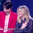 Jeanne Cherhal, Louane et Véronique Sanson remettent une Victoire d'honneur à William Scheller - Victoires de la musique au Zénith de Paris, le 12 février 2016.