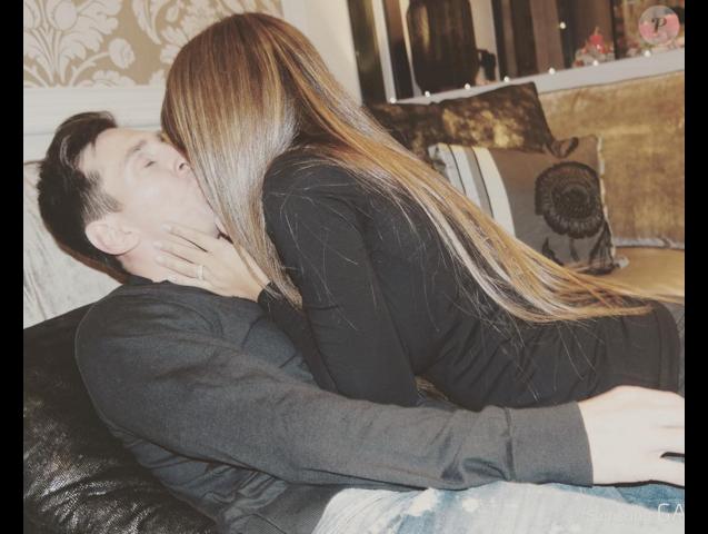 Antonella et Lionel Messi pour la Saint-Valentin le 14 février 2016.