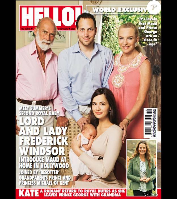 Lord Frederick Windsor et Sophie Winkleman présentaient en 2013 leur fille Maud au magazine Hello!, à leur domicile de Los Angeles.
