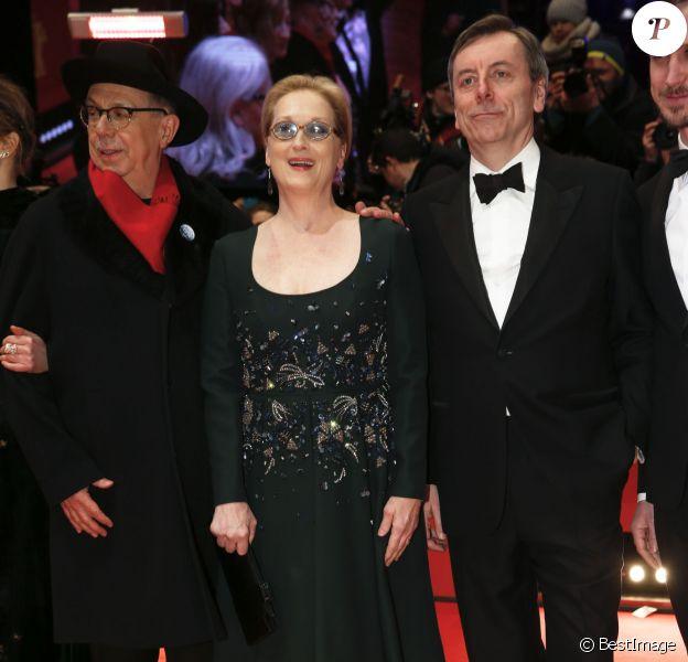 Dieter Kosslick (président du festival), Meryl Streep, Nick James- Cérémonie de clôture du 66e Festival International du Film de Berlin, la Berlinale, le 20 février 2016