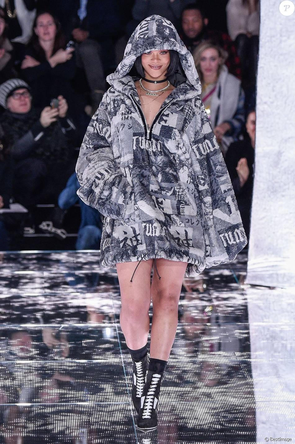 new style af7d8 c9e56 Rihanna au Défilé Fenty Puma by Rihanna (première collection ...