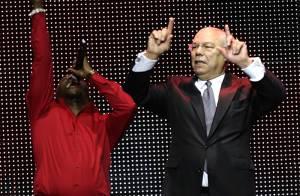 REPORTAGE PHOTOS : Colin Powell, un super danseur de rap ... allez Bernard Kouchner, chiche ?