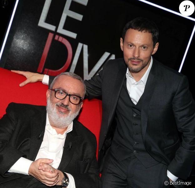 Exclusif - Dominique Farrugia est l'invité du Divan de Marc-Olivier Fogiel, dans l'émission enregistrée le 29 janvier 2016 pour une diffusion le mardi 1er mars 2016 sur France 3 à 23h10. © Dominique Jacovides