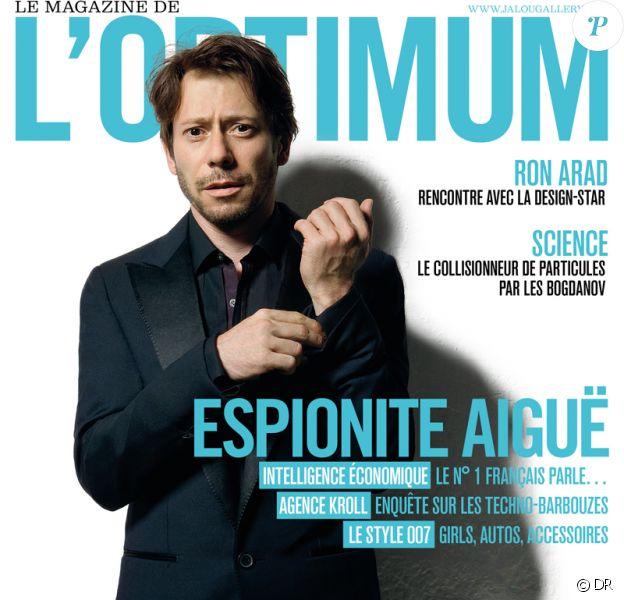 Mathieu Amalric en couverture de l'Optimum