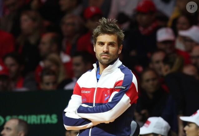 Arnaud Clément - Finale de la Coupe Davis (France - Suisse) au Stade Pierre Mauroy de Lille Métropole le 21 novembre 2014