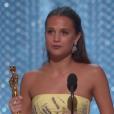 Alicia Vikander obtient l'Oscar du meilleur second rôle pour The Danish Girl - 28 février 2016