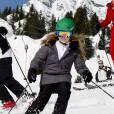 La princesse Alexia des Pays-Bas aux sports d'hiver en famille à Lech (Autriche) le 22 février 2016. La fille du roi Willem-Alexander et de la reine Maxima s'est cassé la jambe droite le 27 février et a dû être opérée du fémur.