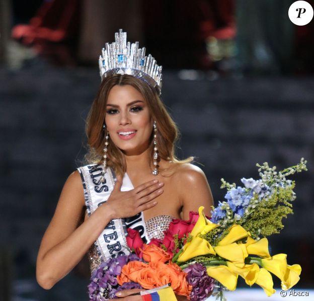 Ariadna Gutierrez alias Miss Colombie le soir de l'élection Miss Univers à Las Vegas, le 20 décembre 2015.