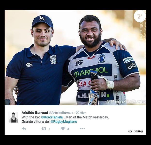 Aristide Barraud, rugbyman blessé lors des attentats de Paris en novembre 2015 - février 2016