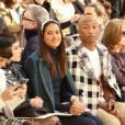 Pharrell Williams et sa femme Helen Lasichanh, Isabelle Huppert, Anna Mouglalis - People au défilé de mode Chanel collection prêt-à-porter Automne Hiver 2016/2017 lors de la fashion week à Paris, le 8 mars 2016.