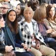 La chanteuse Halsey (Ashley Nicolette Frangipane), Pharrell Williams et sa femme Helen Lasichanh, Isabelle Huppert, Anna Mouglalis - People au défilé de mode Chanel collection prêt-à-porter Automne Hiver 2016/2017 lors de la fashion week à Paris, le 8 mars 2016.