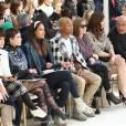 Soko, la chanteuse Halsey (Ashley Nicolette Frangipane), Pharrell Williams et sa femme Helen Lasichanh, Isabelle Huppert, Anna Mouglalis - People au défilé de mode Chanel collection prêt-à-porter Automne Hiver 2016/2017 lors de la fashion week à Paris, le 8 mars 2016.