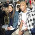 "Pharrell Williams et sa femme Helen Lasichanh - People au défilé de mode ""Chanel"", collection prêt-à-porter automne-hiver 2016-2017 au Grand Palais à Paris, le 8 mars 2016. © Olivier Borde/Bestimage"
