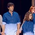 Bénabar, Thomas Dutronc, Zazie et Claire Keim, lors du concert des Enfoirés à l'AccorHotels Arena à Paris, diffusé le vendredi 11 mars sur TF1.
