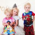 Les trois enfants de James Van Der Beek et sa femme Kimberly / photo postée sur Instagram.