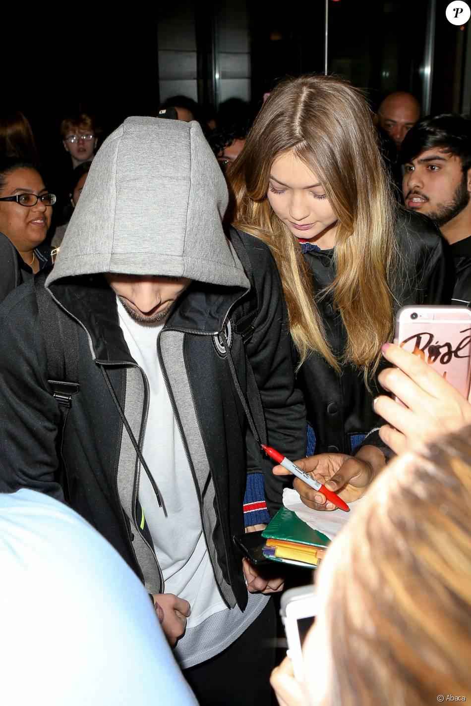 Zayn Malik et Gigi Hadid à New York, le 1er avril 2016.