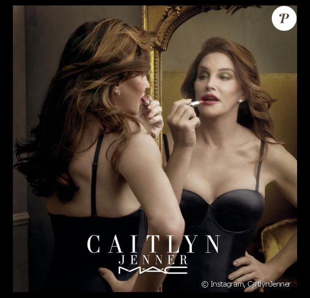 Caitlyn Jenner nouvelle égérie de la marque MAC, dévoile une nouvelle image de la campagne publicitaire pour son rouge à lèvres Finally Free, dont la totalité des bénéfices seront reversés à un fond en faveur des personnes transgenres. Photo publiée sur Instagram, le 7 avril 2016.