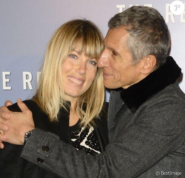 Nagui et sa femme Melanie Page au Grand Rex à Paris, le 18 janvier 2016. © Coadic Guirec