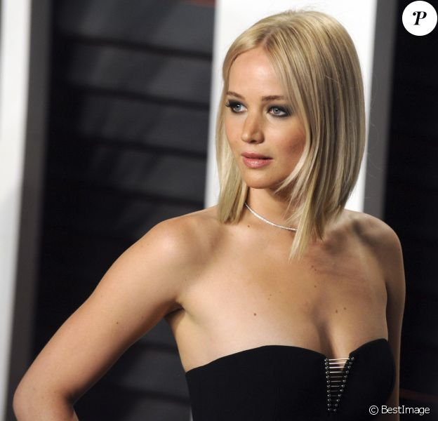 """Jennifer Lawrence - People à la soirée """"Vanity Fair Oscar Party"""" après la 88e cérémonie des Oscars à Hollywood, le 28 février 2016"""