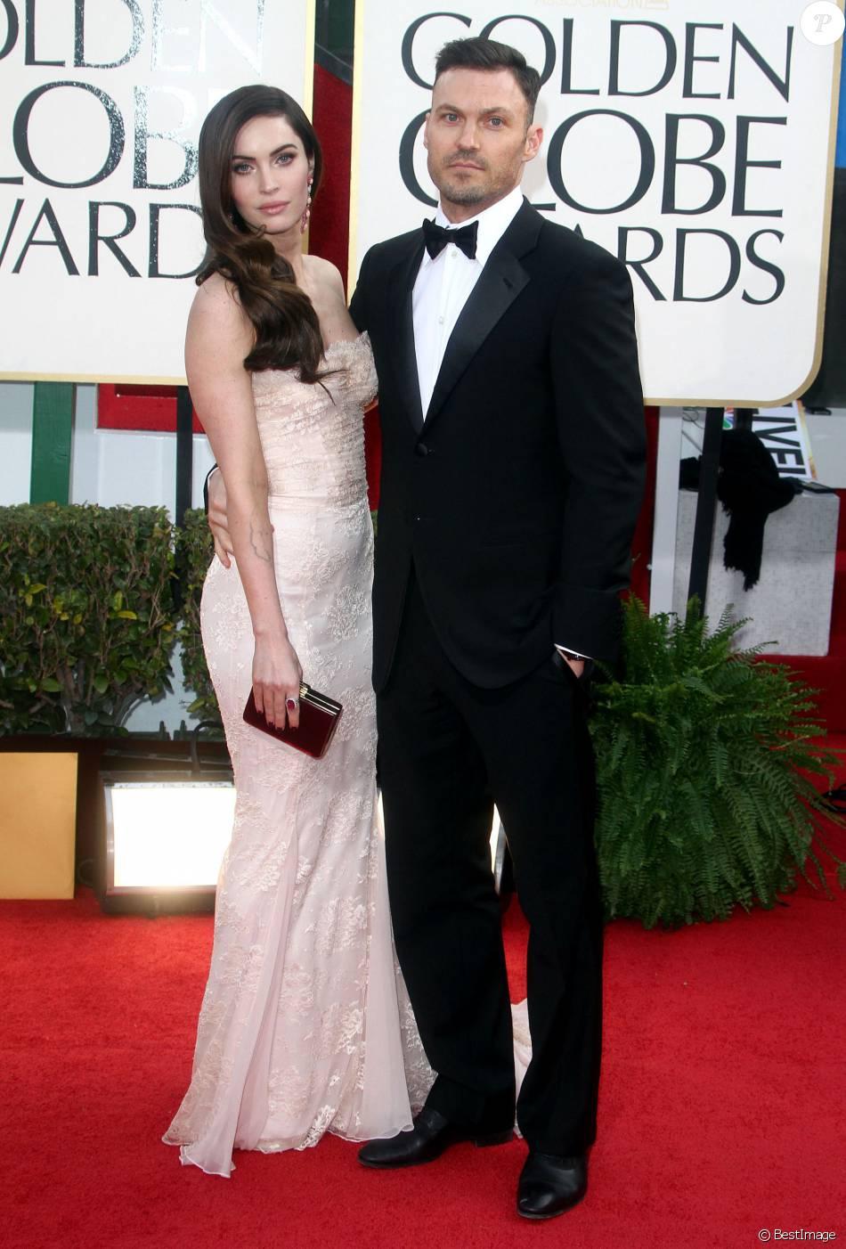 Megan Fox et Brian Austin Green à la cérémonie des Golden Globes le 13 janvier 2013