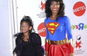 REPORTAGE PHOTOS : La jolie Jada Pinkett Smith et Jason Priestley se déguisent avec leurs petites filles ! (réactualisé)