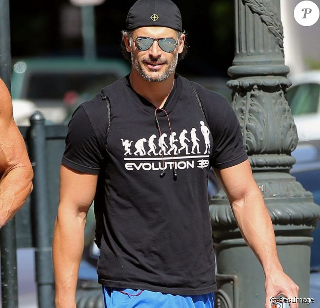 Exclusif - Joe Manganiello et Kevin Nash se rendent à leur cours de gym à Savannah, le 19 octobre 2014