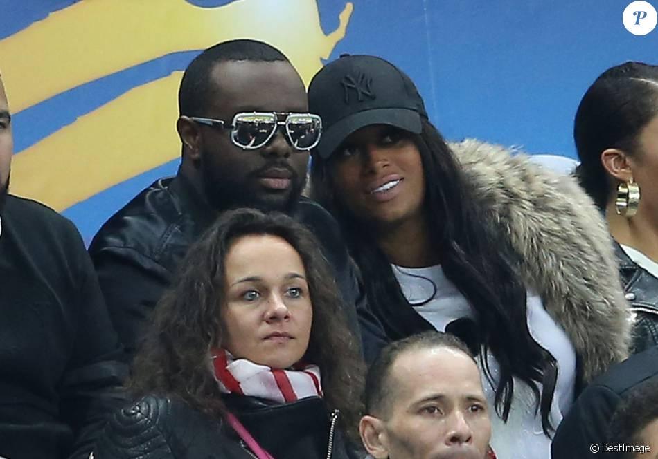 fd97f588c5b3e5 Maitre Gims et son épouse DemDem assistent à la finale de la Coupe de la  Ligue