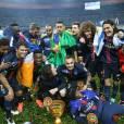 Le PSG remporte la coupe de la ligue face à Lille au Stade de France à Saint-Denis, le 23 avril 2016. © Cyril Moreau/Bestimage