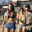 Exclusif - Ariel Winter et son compagnon Laurent Claude Gaudette amoureux lors du festival de musique de Coachella à Indio le 23 avril 2016.