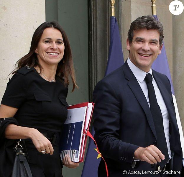 Arnaud Montebourg et Aurélie Filipetti sur le perron de l'Elysée le 18 septembre 2013