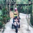 Stéphanie Clerbois et son petit Lyam au Mexique, fin avril 2016.