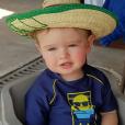 Stéphanie Clerbois, son petit Lyam et son compagnon Eric en vacances à Mexico à partir du 19 avril 2016.
