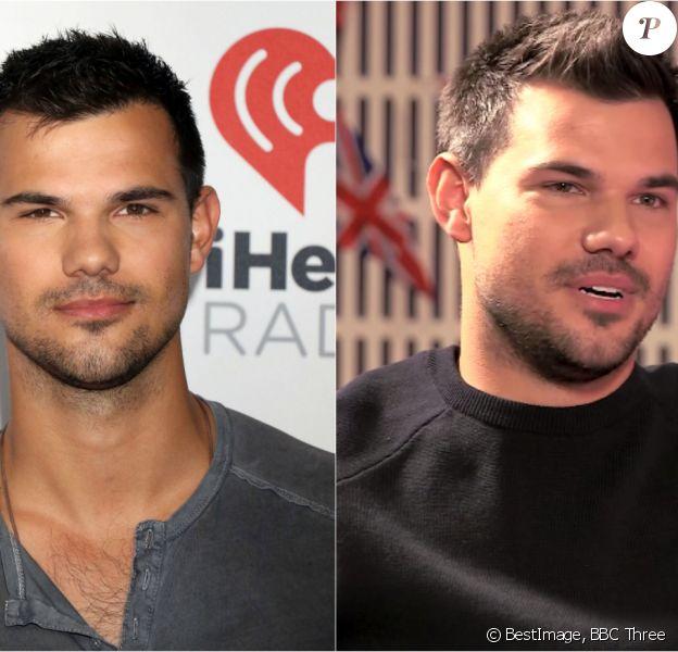 Taylor Lautner en septembre 2015 vs. Taylor Lautner en février 2016.