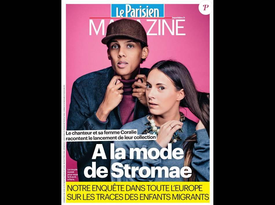 Stromae et sa femme Coralie en couverture de Le Parisien Magazine