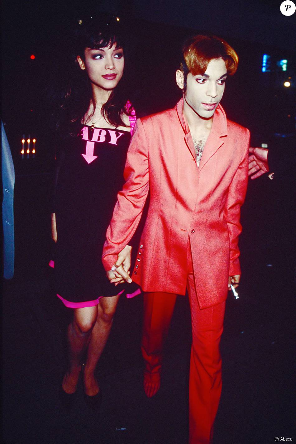 Prince et Mayte Garcia à New York en 1996.
