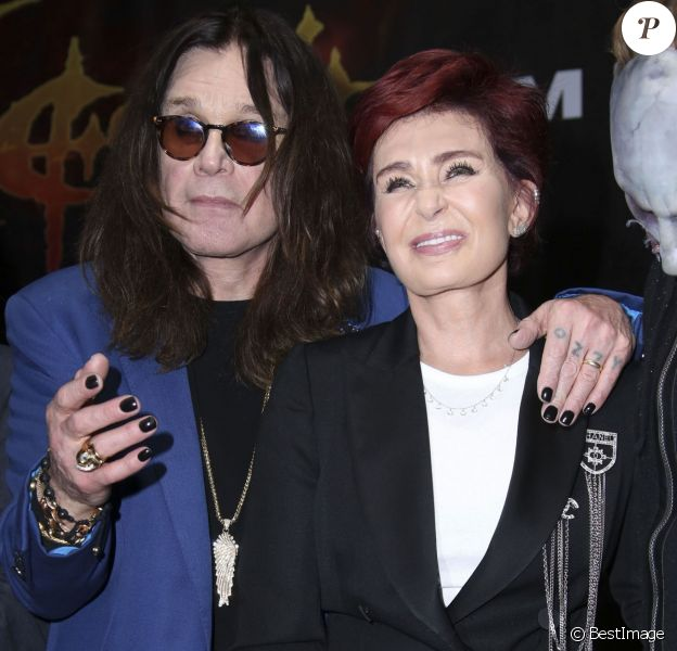 Ozzy Osbourne et Sharon Osbourne se retrouvent pour la soirée 'Corey Taylor Special Announcement' au Palladium à Hollywood le 12 mai 2016