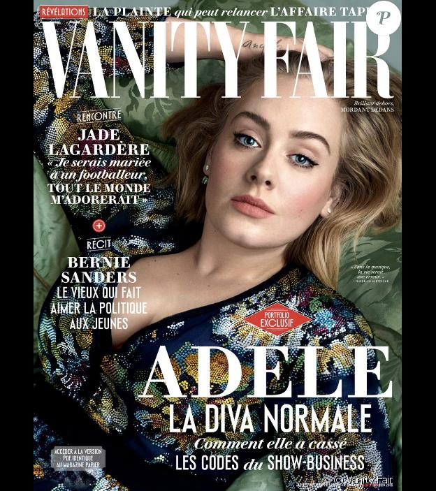 """Adele en couverture de l'édition française de """"Vanity Fair"""", en kiosques le 25 mai 2016."""