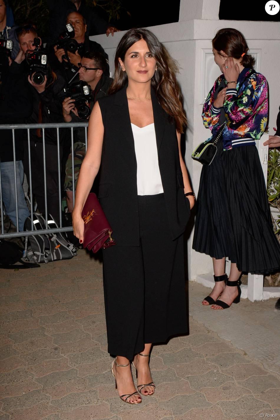 Géraldine Nakache - Dîner organisé par le magazine français Vanity Fair au restaurant Tetou. Vallauris Golfe-Juan, le 12 mai 2016.