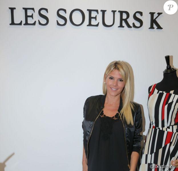 """Exclusif - Amélie Neten - Inauguration de la boutique """"Les Soeurs K"""" à Paris, le 26 mai 2016. © CVS/Bestimage"""