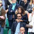 Laurie Cholewa et son nouveau compagnon dans les tribunes des internationaux de France de Roland Garros à Paris le 4 juin 2016. © Moreau - Jacovides / Bestimage