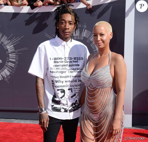 Wiz Khalifa et sa femme Amber Rose à la Cérémonie des MTV Video Music Awards à Inglewood. Le 24 août 2014