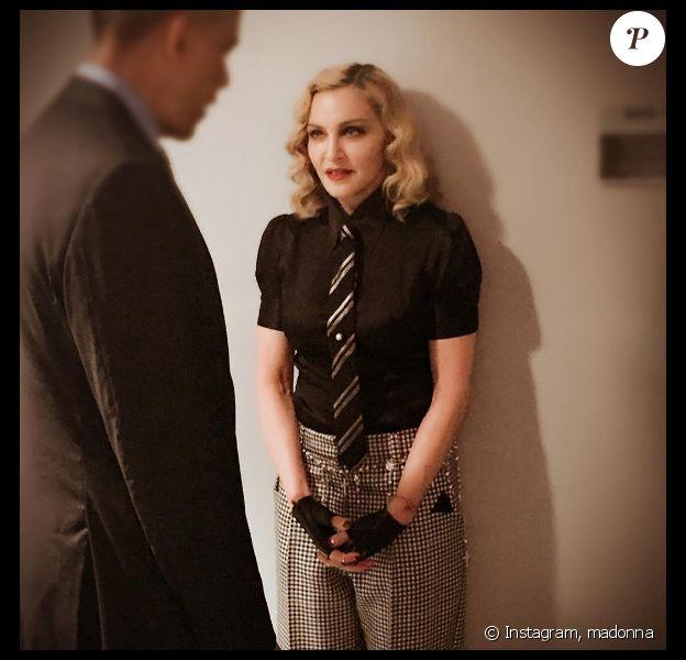 Madonna a rencontré la président des Etats-Unis, Barack Obama, lors de son passage sur le plateau de l'émission de Jimmy Fallon. Photo publiée sur Instagram, le 8 juin 2016