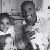 Rio Mavuba papa : Le footballeur et Elodie présentent leur petite princesse