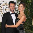 Adam Levine et sa femme Behati Prinsloo - 72ème cérémonie annuelle des Golden Globe Awards à Beverly Hills. Le 11 janvier 2015